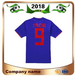 00384adc708 2018 Limited Sale Men World Cup 10 for James Soccer Jerseys Away Blue Shirt   9 Falcao Quality Thai Edition National Team Football Uniform