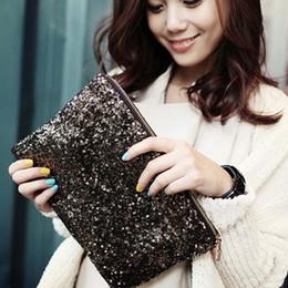 кошельки с леопардовым блеском Скидка Hot Women Handbag purses Fashion Vintage  Full Paillee Day Clutch Bling Sequins Evening Party Bag Leopard Lining Bag