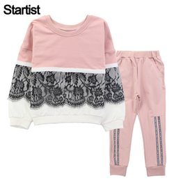 Wholesale Sportswear For Boys - Startist Children Clothing Sets For Girls Sport Clothes Lace Girls Sports Suits Teenage Kids Tracksuits Sportswear 8 10 12
