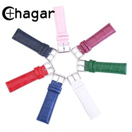candy bracelet accessories Promo Codes - Genuine Leather Watch Straps Bracelet candy colorful Watchband 18mm 20mm 22mm watch accessories for Men women Universal