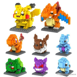 Wholesale Puzzle Block Game - LOZ DIAMOND BLOCKS Toy Super Heroes Pikachu In 7.5 CM Box Parent-child Games Educational DIY Assemblage Bricks Toys 3D Puzzle Toy