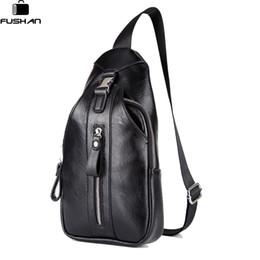 Wholesale Sling Rucksack - FUSHAN Brand Men Bag Waterproof Men Chest Pack Small Sling Messenger Shoulder Bag Casual Travel Rucksack Chest Bags