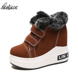 0e4143839561 Women Sneakers 2018 Fashion Winter Boots Keep Warm Platform Ankle Boots Fur  Warm Shoes Woman High Heels Wedge Casual Shoes