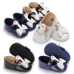mary jane walker Promotion Robe de princesse pour nourrisson filles Swan modèle chaussures 3 couleurs bébé mignon première semelle souple premier motif animalier Mary Jane chaussures 3 tailles