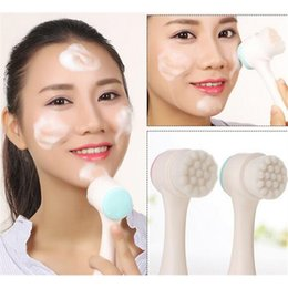 siding tools Coupons - Double Sides Multifunctional Facial Cleansing Brush Portable Size Face Cleaning Tool Pore Massager Facial Beauty Brush DHL free shipping