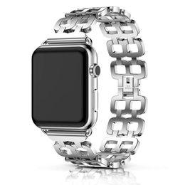 Olhar de metal on-line-Apple Watch Banda 42 milímetros 38 milímetros para as Mulheres Homens A Classic Link Metal Banda Combinada Fantasia New Look Series 3