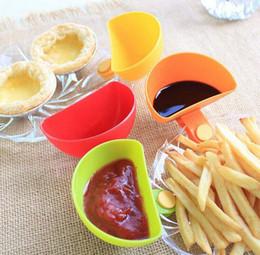 mojando platos Rebajas Dip Clips Cocina Tazón kit Herramienta Platos Pequeños Clip de la especia para la salsa de tomate Vinagre de sal Especias de sabor de azúcar
