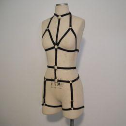 Tiras de retenção on-line-Lingerie Sexy Para As Mulheres Completa Body Harness Bondage Restrições Erotic Oco Busto Cintas Elásticas Garter Belt Fetish Catsuit