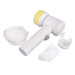 Spazzola per la pulizia della vasca online-5 in 1 Magic Brush Nylon Bathtub Utensili elettrici multifunzionali per la casa da bagno Spazzola per la pulizia della cucina da bagno Pulitore per finestre visto