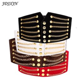 Wholesale wide red elastic belt - High quality belts women fashion 2016 Hot sale women's belt Free Shipping Wide Corset Female elastic fabric + PU + alloy , WS89