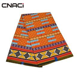 Canada CNACI Kente Tissu 2018 Nouveau Design Ghana Imprimé De Cire Tissu 6 Mètres Vente Chaude Ghana Kente Tissu Africain Véritable Cire Imprimer Offre