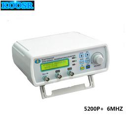 Wholesale Generator Digital - MHS-5200P+ Digital Dual-channel DDS Signal Generator Arbitrary waveform generator Function signal generator 6MHz Amplifier 5MHz