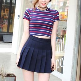 b4e6e6726e Falda plisada de la cintura alta de la falda de la falda de la cintura del  estilo de la escuela de la universidad para las muchachas de las mujeres  rebajas ...