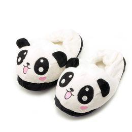1pair Mignon Yeux Panda Femmes Pantoufles Belle Cartoon Indoor Accueil Soft Shoes Polyester Women's Winter Slippers 26 cm от