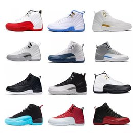 Wholesale Quality Taxi - High Quality 12 XII Men Basketball Shoes playoffs 12s white gym red Gamma Blue Taxi Barons wolf Grey Sports Shoe sneakers Boots