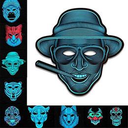 máscara de coelho adulto Desconto Assustador LED Máscara de Música Halloween Xmas Cosplay Light Up Festival Traje de Festas