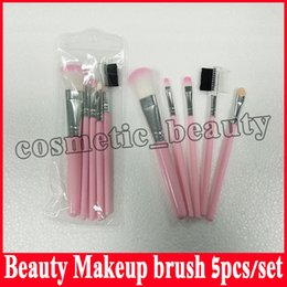 Wholesale Christmas Makeup Brush Gift Set - Factory direct Holiday Edition Makeup Brush Set Limited Edition Pink Brush Set 5 Beauty Tools Christmas Gift Straight Shipping