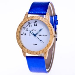Wholesale Heart Battery Monitor - Man Multi Color Fashion Leather Strap Simple Analog Business Wristwatch Women Wooden Design Pin Buckle Dress Casual Clock Couple Watch