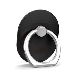 Hebillas de anillos online-100pcs anillo de dedo anillo del teléfono celular soporte del anillo del metal perezoso anillo hebilla soporte del teléfono móvil soporte del soporte de 360 grados para universal móvil