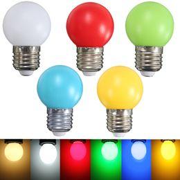 Wholesale Led Golf Balls - Colorful LED Light Bulb E27 Energy Saving Light Globe Golf Ball Lamp 1W 2W 3W Home Decor Lighting AC220V