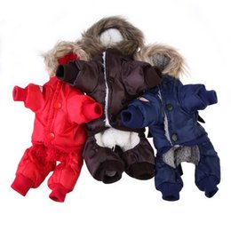 Wholesale Warm Dog Clothes Xxl - China apparel line Suppliers XS S M L XL XXL Thick Warm Small Dog Pet Clothes Padded Hoodie Jumpsuit Pants Apparel for Winter