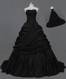 Gothic Black Strapless Quinceanera vestido de Baile Vestidos de Casamento para a Festa Personalizada Plus Size Vestido Formal Ocasião Do Casamento de Fornecedores de vestido preto vermelho de dois tons