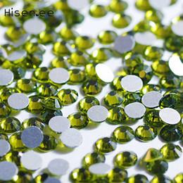 Argentina Verde oliva Flatback Glass Mixed Sizes SS3-SS30 Nail Art Decoration Rhinestones 3D Stones Gemas Brillantes Accesorios de Manicura Herramientas cheap flatback rhinestones green Suministro
