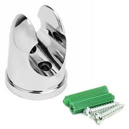 Wholesale Fixing Bathroom - 23mm Bathroom Accessories Shower Head Wall Mount Fixed Bracket Holder Silver Hot sale