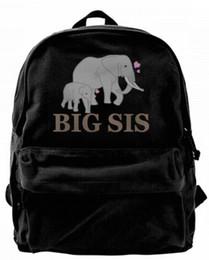 grande bolsa preta bonita Desconto Big Irmã Elephant1 Ombro Da Lona Mochila Bonito Mochila Para Homens Mulheres Adolescentes Faculdade Viagem Daypack Design bolsa Preta