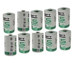 máquinas plc Desconto Saft ls14250 10 pçs / lote Novo original Saft LS14250 1 / 2AA 3.6 V PLC equipamento de automação industrial máquina CNC bateria de lítio Frete grátis