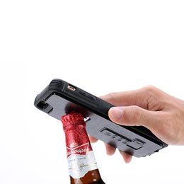 Wholesale Newest Bottle Opener - For iPhone 4.7 5.5 inch Phone Cases Newest Practical Cover With Bottle Opener and Light Cigarette Function for Iphone 8 7