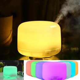 Wholesale fragrance warmers - Big mist 7 colors changeable warm white aroma humidifier night light led 500ml Essential Oil Diffuser Aromatherapy Fragrance Light