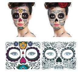 feridas falsas Desconto Festa de natal Dia Facial dos Mortos Enfrentou Tatuagem Halloween e Masquerade Bola Deve Tatuagem Adesivo À Prova D 'Água Enfrentou Tatuagem 3000 pcs