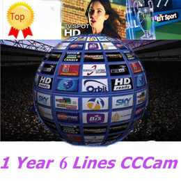 Wholesale Decoder Hd - CCCAM 1 year 6 Clines HD Germany UK Canal Italy Spain France 12 Months account free trial Satellite Decoder Server Receiver AV Cab