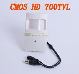 Wholesale Pir Cctv - HD CMOS 700TVL 3.7mm Lens Security Indoor Mini PIR Shell Surveillance Camera CCTV Camera