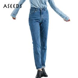 Wholesale Women Harem Capri - Vintage Denim capri female mom boyfriend Jeans with high waist Jeans for women's jeans large sizes black blue harem pants