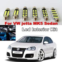Wholesale Volkswagen Mirrors - WLJH 9x White Canbus Dome Mirrors LED Car Interior lighting Kit For Volkswagen Jetta MK5 MKV Sedan2005 2006 2007 2008 2009 2010