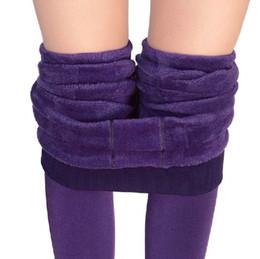 Wholesale Super Thick Girls - Bohocotol Hot Plus Cashmere Leggings Girls Casual Warm Winter Faux Velvet Knitted Thick Slim Woman Pants Super Elastic Wholesale