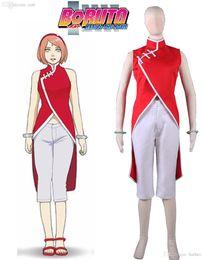 Wholesale free naruto games - Wholesale-Free Shipping Boruto: Naruto the Movie Haruno Sakura Cheongsam Anime Cosplay Costume
