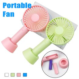 Wholesale fan tables - SS12 Mini Portable Fan Multifunctional USB Rechargerable Kids Table Fan LED Light 18650 Battery Adjustable 3 Speed for Indoor Outdoor Kids