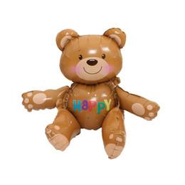 Globos de la hoja del oso 3D grande Decoración de la fiesta de bienvenida al bebé Juguetes inflables del partido del juguete del globo de helio Suppiles ZA6966 desde fabricantes