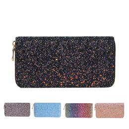 ee15ca95445cd 2018 damen elegante geldbörsen Sparkly Sequind Brieftasche Frauen Pu-Leder  Luxus Design Geldbörse Damen Elegant