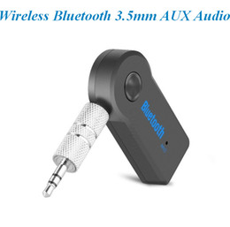 bluetooth mobile phone adapter 2018 - Wireless Bluetooth 3.5mm AUX Audio Streaming Car A2DP Wireless Music Receiver Adapter with Microphone atp040