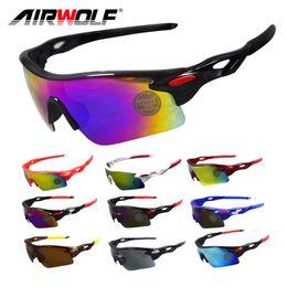 Deutschland Airwolf 2017 chinesische Radfahren Sonnenbrille beste bunte Fahrrad Brille Männer / Frauen im Freien Fahrrad Brille Sport Brillen Versorgung
