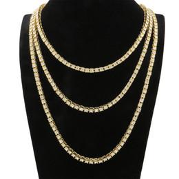 2019 porcelana Hip hop colar de diamantes de tênis para homens moda rapper graduado jóias 20 polegada 24 polegadas 30 polegadas três cores de prata arma de ouro preto porcelana barato