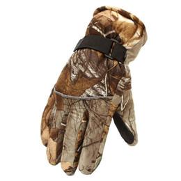 Gants de chasse hiver en Ligne-Hiver Bionic Camouflage Gants de Chasse Chaud Gants De Chasse Mâle En Camouflage Gants De Ski Épaississement Skid Weatherization