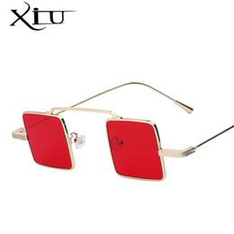 ecf1a284b5d8d 2019 lentes de gafas de sol únicas Xiu Unique Vintage Gafas de sol Hombre  Square Shades. 40