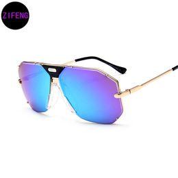 a565fa4a0 Chinese Z F New brand designer sunglasses men metal frame sunglasses large  frame retro toad glasses UV400