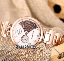 Wholesale Watch Skeleton Swiss - New Bovet Amadeo Fleurier Grand Complications 44 7-Day Tourbillon Rose Gold Swiss Quartz Skeleton White Dial Mens Watch Sports Watches