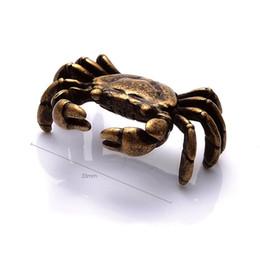 2019 decorazioni di granchio Mini Antique Crab Tea Pet Teaware Ornamento Figurine in miniatura Decorazione della casa Kombucha Accessori per il tè Spedizione gratuita ZA6641 decorazioni di granchio economici
